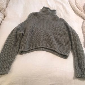 Anthropologie Gray Turtleneck